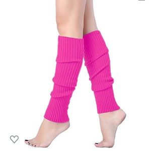 🔥NWT Pink Ribbed Leg Warmers❗️